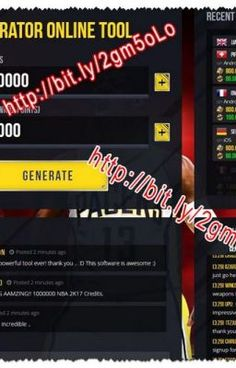 #wattpad #action NBA 2K17 Generator Hack is an online tool that will help you to generate Credits and RP (Reward Points) on your iOS or Android device! This Online generator tool has been designed by using an exploit in the game which will not put your account at risk in NBA 2K17 iOS and Android. Our team just crea...