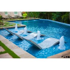 Great Modern Swimming Pool with Private backyard by AquaTerra ❤ liked on Polyvore featuring beach and place