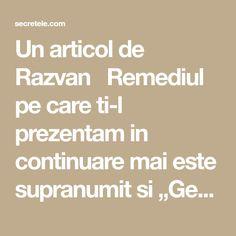 """Un articol de Razvan  Remediul pe care ti-l prezentam in continuare mai este supranumit si """"Gemul de spital"""" pentru faptul ca a fost testat pe un grup de pacienti care sufereau de o forma severa de constipatie. Este foarte eficient, perfect natural si usor de preparat!  Constipatia se poate datora fie sedentarismului, stresului, …"""