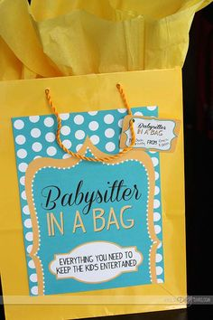 Introducing... Babysitter In A Bag! Everything you need to surprise your kiddos with a whole night of serious FUN! (So you can finally enjoy date night!)
