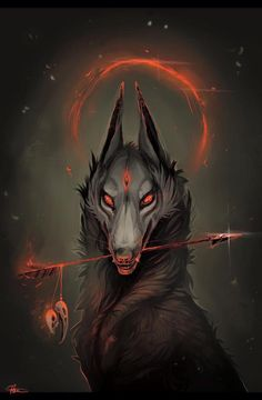 Dark Fantasy is the Best Fantasy Dark Fantasy Art, Fantasy Wolf, Fantasy Kunst, Fantasy Demon, Demon Art, Anime Wolf, Mythical Creatures Art, Fantasy Creatures, Dark Creatures