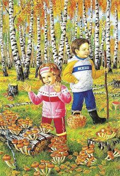 Mignonnes illustrations serie L ( L.N) Winter Crafts For Kids, Art For Kids, I Love Snow, Montessori Materials, Children Images, Autumn Activities, Cute Illustration, Illustrations Posters, Decoupage