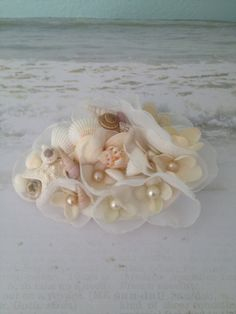 Beach Wedding Hair Clip with Shells and Starfish by LCFloral, $24.50