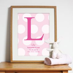 Bespoke #gift ideas: personalised #poster design for girls