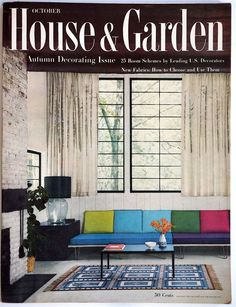 A nice copy with a beautiful cover. Autumn decorating issue.