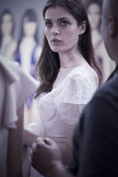 Kulisy finału Top Model 3: Renata Kurczab w sukni ślubnej Paprocki  Brzozowski, fot. Agnieszka Taukert