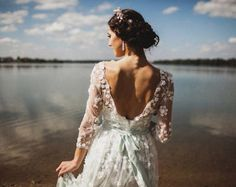 Boho romántico Vestido de gasa encaje italiano por MariStyleCouture