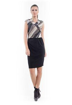 Sleeveless Crossover Dress