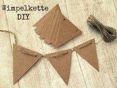 DIY Kraftpapier Wimpelkette/Girlande  von Herz-Buffet auf DaWanda.com