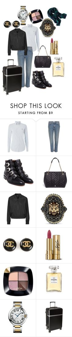 """""""Travelling to Milano : Style Report"""" by andreamartin24601 ❤ liked on Polyvore featuring Polo Ralph Lauren, Acne Studios, Givenchy, Lanvin, Topshop, Gucci, Chanel, Dolce&Gabbana, L'Oréal Paris and Cartier"""