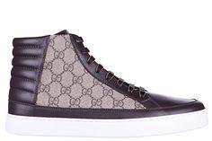 Gucci Herrenschuhe Herren Schuhe High Sneakers gg supreme beige EU 43 411857 A9LN0 2167
