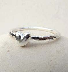 Sterling silver stackable rings soo cute!