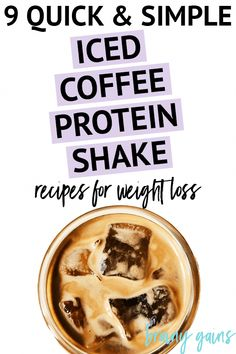 9 Delicious Iced Coffee Protein Shake Recipes for Weight Loss Coffee and breakfast in one - who's with me? Give these simple, yet delicious, iced coffee protein shake recipes for weight loss a try today! Weight Loss Snacks, Weight Loss Drinks, Healthy Weight Loss, Iced Coffee Protein Shake Recipe, Protein Shake Recipes, Healthy Detox, Healthy Diet Plans, Detox Foods, Diet Detox
