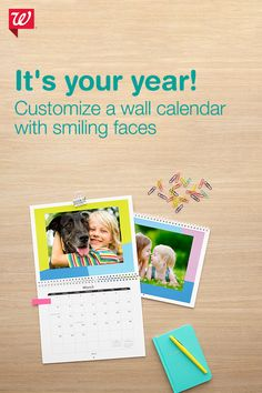 Enjoy your photos 365 days a year with photo calendars. With a variety of styles, sizes, background colors and designs, it's easy to make  a one-of-a-kind photo calendar.