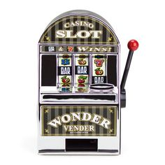 Bars and Sevens Slot Machine Bank with Spinning Reels >>> This is an Amazon Affiliate link. You can get more details by clicking on the image.