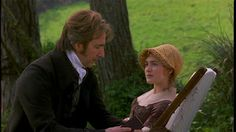 Alan Rickman (Colonel Brandon)  Kate Winslet (Marianne Dashwood) - Sense and Sensibility (1995) #janeausten #anglee