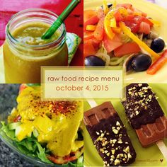 Raw on $10 a Day (or Less!): October 4, 2015: Raw Food Recipe Menu