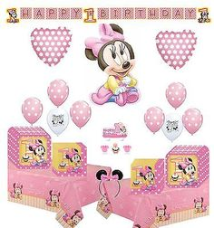 Balloons 26384: Minnie Mouse First Birthday Party Supply And Balloon Bundle -> BUY IT NOW ONLY: $49.99 on eBay!