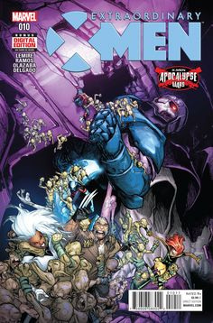 """MARVEL COMICS (W) Jeff Lemire (A/CA) Humberto Ramos """"APOCALYPSE WARS"""" continues here in """"OMEGA WORLD"""": Part 3! • Trapped a thousand years in the future, the X-Men are literally mutantkind's last hope!"""