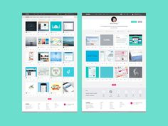 Dribbble Redesign - Home + Profil
