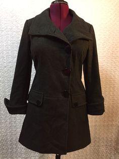 Guess Women's Medium Coat Dress Peacoat Gray/Charcoal Wool  | eBay