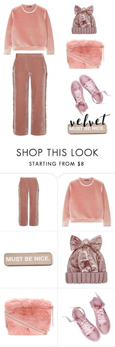 """""""Velvet must be nice and can be cozy"""" by j477 ❤ liked on Polyvore featuring Maje, RIPNDIP, Federica Moretti, Furla, contest, velvet and polyvorecommunity"""