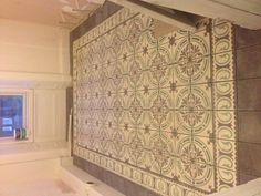 Encaustic tiles dar interiors