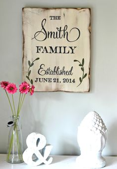 Family Established Sign | family name sign || by Aimee Weaver Designs