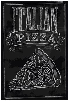 Illustration about Vector chalk pizza on chalkboard background. Illustration of dinner, pizzeria, classic - 34449759 Blackboard Art, Chalkboard Lettering, Chalkboard Writing, Framed Chalkboard, Speisenkarten Designs, Pizza Sign, Pizzeria Design, Pizza Poster, Pizza Vector