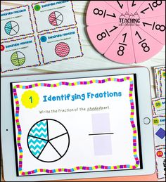 Are your students learning how to identify fractions? These differentiated digital task cards are such a fun activity for third, fourth and fifth grade students. Distance learning math has never been more fun.  Just upload into google classroom and play! Teaching Fractions, Math Fractions, Google Classroom, Classroom Ideas, Simplest Form Fractions, Adding And Subtracting Fractions, I Love Math, Fraction Activities, Math Projects