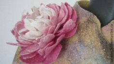 Peony? wet and needle felted I would guess