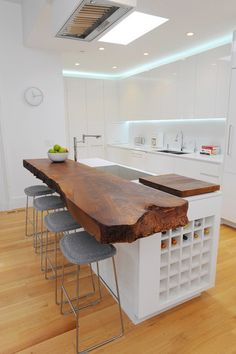 Thick, live-edge walnut slabs are popular for countertops and tabletops and are fairly easy to find. Slabs work well in both contemporary se...