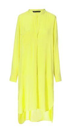 neon yellow instead of white - LANGE, ASYMMETRISCHE TUNIKA - Kleider - Damen - ZARA Deutschland - 100% VISKOSE - 39,95 EUR