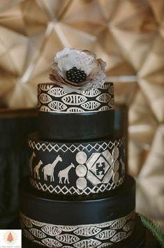 Safari cake by Elysia Root Cakes Creative Wedding Cakes, Beautiful Wedding Cakes, Beautiful Cakes, Amazing Cakes, Mod Wedding, Trendy Wedding, Cake Wedding, Africa Cake, Safari Cakes