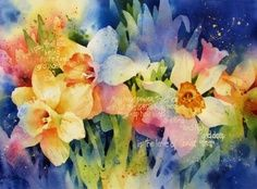 susan crouch art | Susan Crouch watercolor...Lovely picture of daffodils!