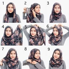 Beautiful Floral Hijab Tutorial