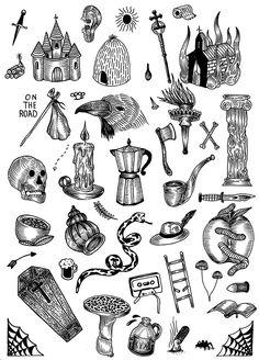 """""""FLASH TATTOO"""" Flash tattoo prêt à être tatoués, chaque dessin est tatoué une seule et unique fois. Prix variable en fonction de la taille et du visuel. rendez-vous: elhoboart@gmail.com"""
