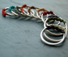 Back to roots stacking silver rings by lunaticart on Etsy