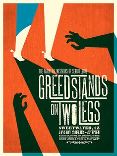 Greedstands on Two Legs Poster | Graphic Design