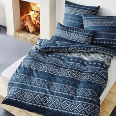 Für wohlig warme Winternächte - Weiche Feinflanell-Bettwäsche von s.Oliver