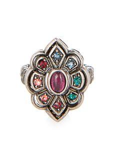 Crystal and palladium-plated ring | Gucci | MATCHESFASHION.COM UK