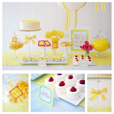 yellow baby shower