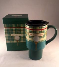 Golf Travel Coffee Lid Mug Sweet Spot Lang Paula Joerling Cup In Box 16 OZ  #Lang