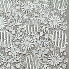 "Lace Fabric White Waterinsoluble Fabric Flower Wedding Fabric 47.24"" width 1 yard. $14.99, via Etsy."