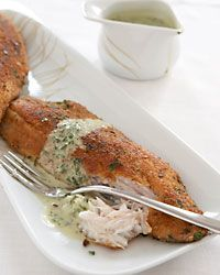 Sea Bass Fillets with Parsley Sauce - Easy Weekday Recipes from Food & Wine