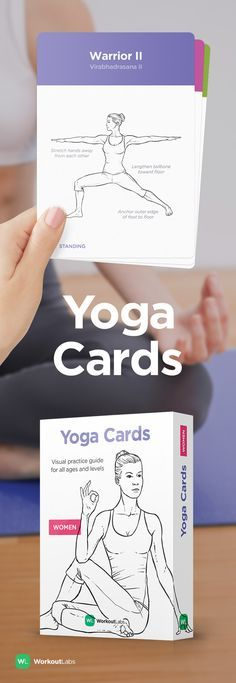 Learn and practice yoga at home with YOGA CARDS – a simple visual guide with essential poses, breathing exercises and meditation. Visit http://WLShop.co