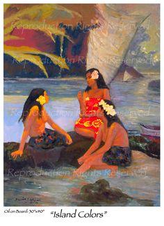 Hawaiian Artists Painters | Beautiful Hawaiian Women