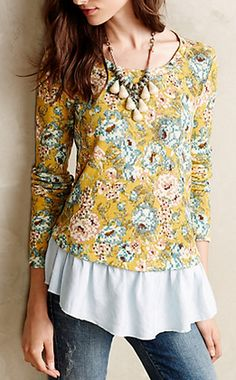 Goldenrod Ruffled Pullover #anthrofave http://rstyle.me/n/qq7iwnyg6