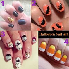 happy nails for halloween party :)