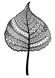 Illustration about Zentangle black and white leaf of the tree oak. Illustration of flora, indian, anti - 65338729 Zentangle Drawings, Mandala Drawing, Zentangle Patterns, Mandala Art, Zentangles, Black And White Leaves, Black And White Drawing, Op Art Lessons, Creative Arts Therapy
